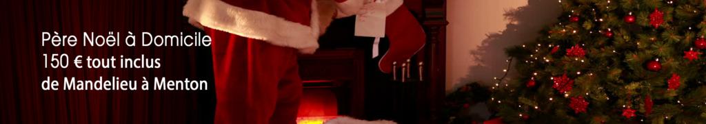 Le père Noël à domicile dans les alpes maritimes de Menton à Mandelieu, Monaco, Nice, Cannes, Antibes Bee Bop Productions